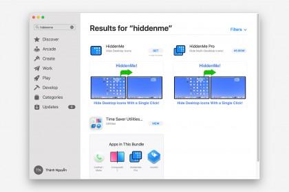 Ẩn mọi thứ trên Desktop với Hidden Me Free
