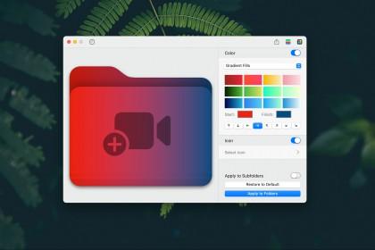 Hướng dẫn đổi màu Folder trong Finder với ứng dụng Foldor v1.1.0