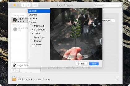 Thay Avatar của Admin, User và thêm lời chào trong màn hình khóa Macbook