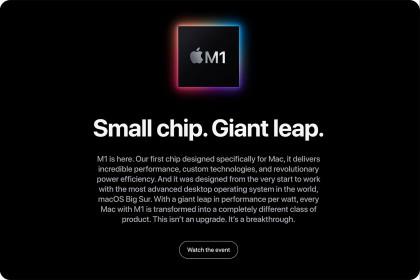 Apple công bố chip M1, con chip đầu tiên thế hệ ARM của mình