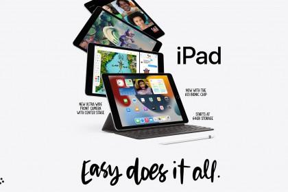 iPad Gen 9 - Apple A13 Bionic, màn hình True Tone