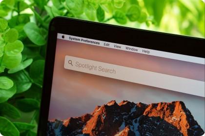 Hướng dẫn sử dụng tính năng Spotlight trên macOS.