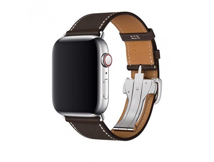 Apple Watch Hermès - 44mm Ébène Barénia Leather Single Tour Deployment Buckle