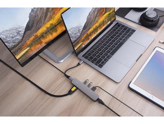 Bộ chia USB-C HyperDrive 6-in-1 (có HDMI và LAN)