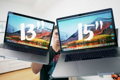 [Tư vấn 2018] Mua Macbook Pro 13 inch hay 15 inch