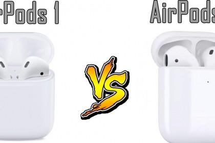 So sánh AirPods 2 và AirPods(trên giấy)