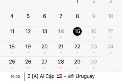 Mang lịch thi đấu World Cup 2018 vào Macbook và iPhone cực nhanh