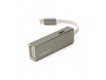Bộ chia USB-C LeTouch ra VGA + USB 3.0