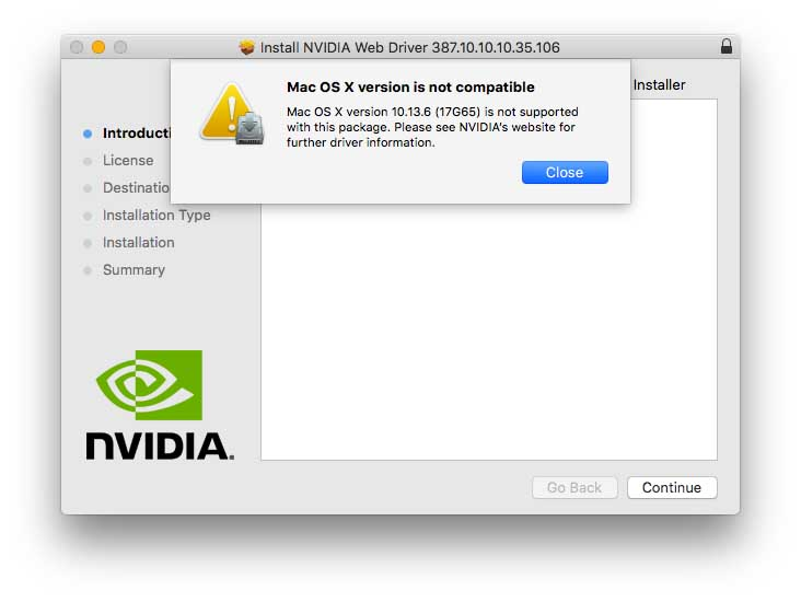 nvidia-web-driver-warning