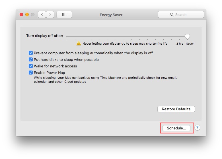 energy-preference-macos